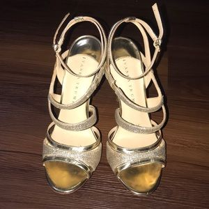 😍ivanka trump gold strap shoes